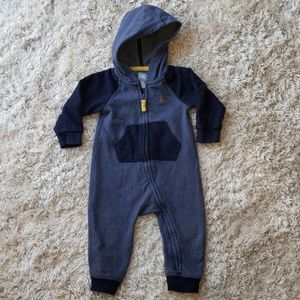 12-18m baby gap boy zip up jumpsuit